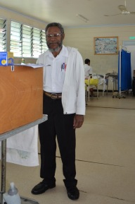 Mr. Pia, one of the senior staff.