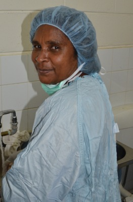 """Auntie"" Margreth, supervisor of the Theatre staff, has given her life to make surgery a Kudjip a success."
